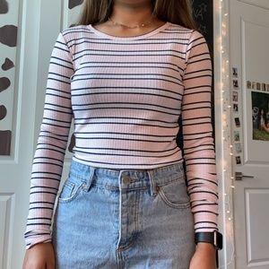 Light Pink Striped Longsleeve